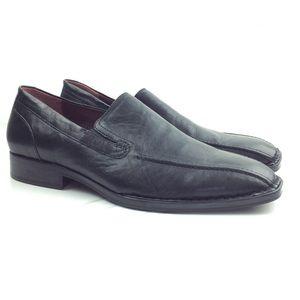 Born Black Leather Slip On Dress Loafers